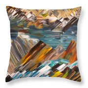 Boulders In The River Throw Pillow
