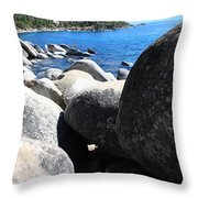 Boulders On Lake Tahoe Throw Pillow