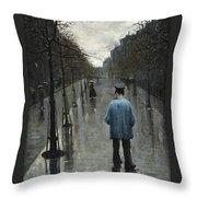 Boulevard Des Batignolles Throw Pillow