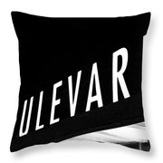 Boulevard Lights Up The Night Throw Pillow by Angie Rayfield