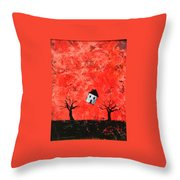 Bouncing House Fiery Sky Throw Pillow