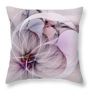 Bound Away - Fractal Art Throw Pillow