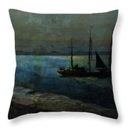 Bound For Santiago Throw Pillow