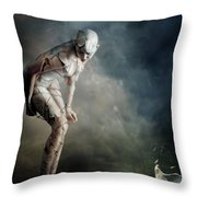 Bound Throw Pillow by Mary Hood