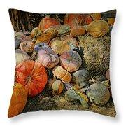 Bountiful Fall Harvest Throw Pillow