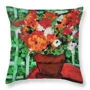 Bouquet A Day Floral Painting Original 59.00 By Elaine Elliott Throw Pillow