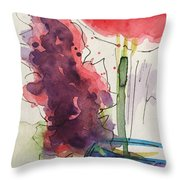 Bouquet Abstract 1 Throw Pillow