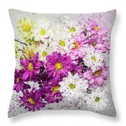 Bouquet Boom Throw Pillow