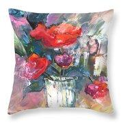 Bouquet De Chez Moi 01 Throw Pillow