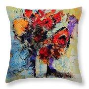Bouquet De Couleurs Throw Pillow