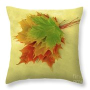 Bouquet De Feuilles / Bunch Of Leaves Throw Pillow