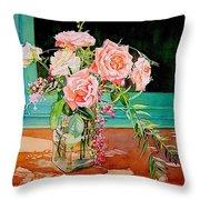 Bouquet De Roses - Marrakech Throw Pillow