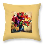Bouquet For Sweeheart Throw Pillow
