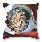 Bouquet In A Theater Box Throw Pillow