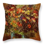 Bouquet In Front Of A Mirror 1877 Throw Pillow