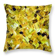 Bouquet In Gold Throw Pillow