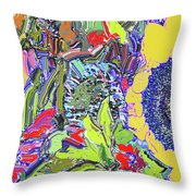 Bouquet In Yellow And Red Throw Pillow