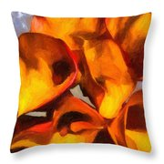 Bouquet Of Calla Lilies Throw Pillow