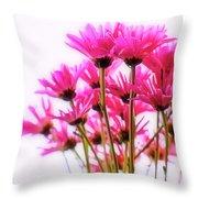 Bouquet Of Chrysanthemums Throw Pillow