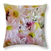 Bouquet Of Daisies Throw Pillow