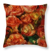 Bouquet Of Flowers 1915 Throw Pillow