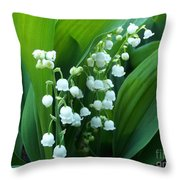 Bouquet Of Happiness Throw Pillow