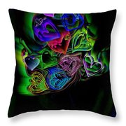 Bouquet Of Hearts Throw Pillow