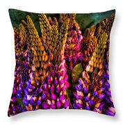 Bouquet Of Lupin Throw Pillow