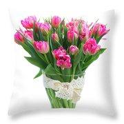 Vase Of Tulips Throw Pillow
