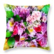 Bouquet Of Purple Throw Pillow