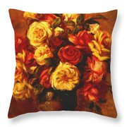 Bouquet Of Roses 1 Throw Pillow