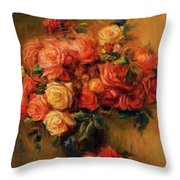 Bouquet Of Roses 1900 Throw Pillow