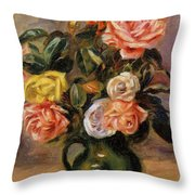 Bouquet Of Roses 2 Throw Pillow