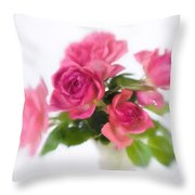 Bouquet Of Roses II Throw Pillow