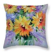 Bouquet Of Sunflowers Throw Pillow
