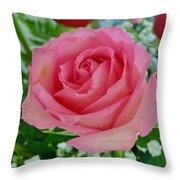 Bouquet Rose Throw Pillow