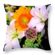 Bouquet Softly There Throw Pillow