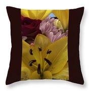 Bouquet Of Beauty Throw Pillow