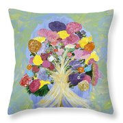 Bouquet Today Throw Pillow