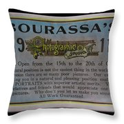 Bourassa's Photographic Studio Throw Pillow