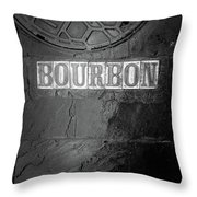 Bourbon In Black And White Throw Pillow
