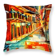 Bourbon Street Blitz Throw Pillow