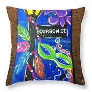 Bourbon Street Original Throw Pillow