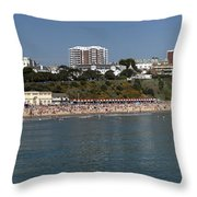 Bournemouth Beaches Throw Pillow