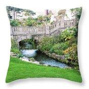Bournemouth Lower Gardens Throw Pillow