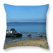 Bournemouth Pier Dorset - May 2010 Throw Pillow