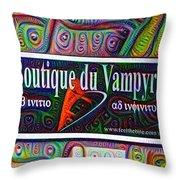 Boutique Du Vampyre -  New Orleans Throw Pillow