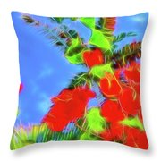 Bougainvillea Glow Throw Pillow