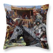 Bouvier Des Flandres - Flandres Cattle Dog Art Canvas Print - Knights Tournir Throw Pillow
