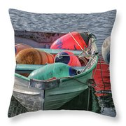 Bouys In A Boat Throw Pillow